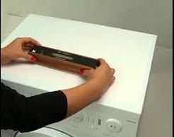 Установка по уровню стиральной машины