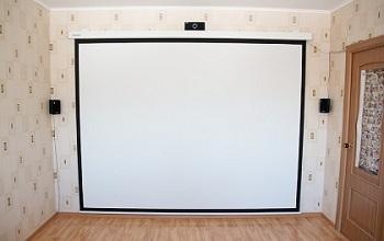 Реальный размер экрана проектора