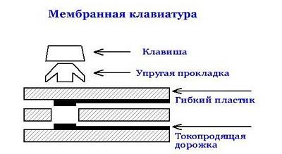 схема мембранной клавиатуры