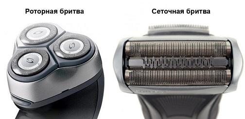 роторная и сеточная электробритвы