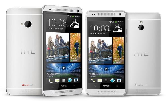 Смартфоны HTC One mini и HTC One почти не отличаются по внешнему виду