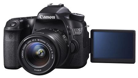 Кэнон EOS 70D с поворотным дисплеем