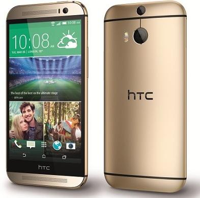 смартфон в металлическом корпусе HTC One M8