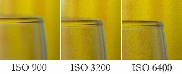 шумы на фото в зависимости от iso