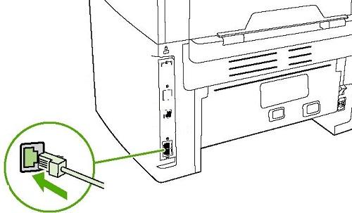 Ethernet порт в копире
