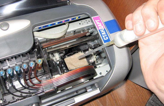 как прочистить головку принтера