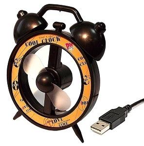 usb-вентилятор будильник