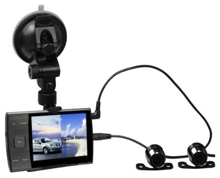 Регистратор с двумя выносными камерами