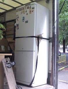 транспортировка холодильника в вертикальном положении