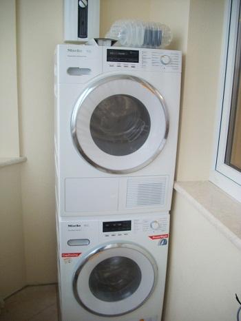 установка сушильной машины на стиральную