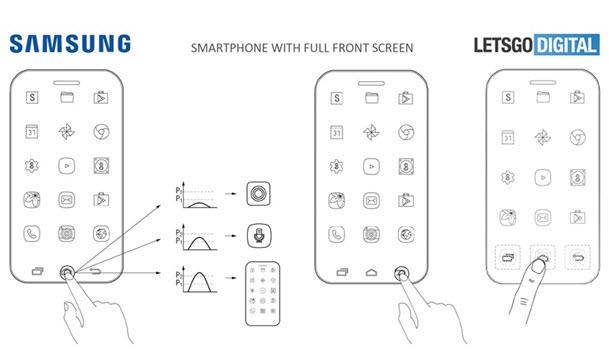 расположение элементов навигации на телефоне samsung
