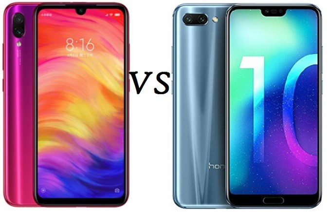 Xiaomi Redmi Note 7 vs Honor 10