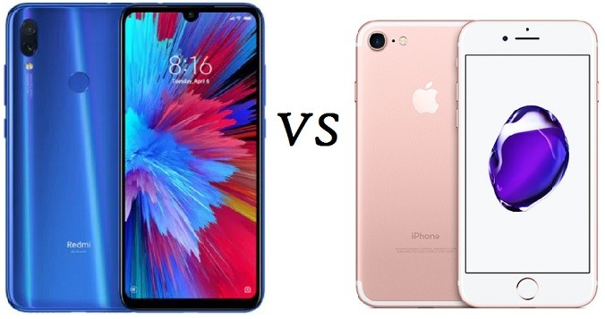 redmi note 7 vs iphone 7