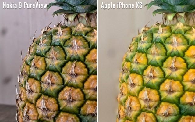 nokia 9 vs iphone xs bokeh