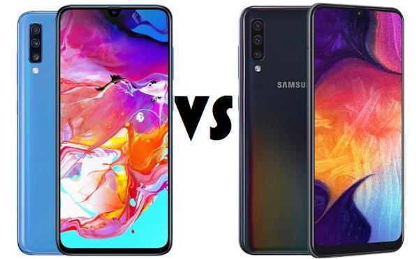 Samsung Galaxy A50 vs Galaxy A70