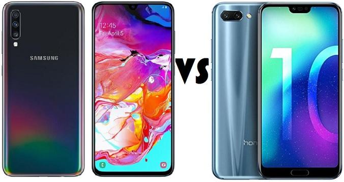 Samsung Galaxy A70 vs Honor 10