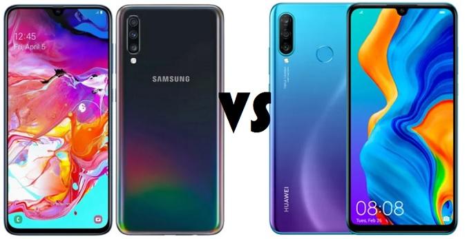 Samsung Galaxy A70 vs Huawei P30 Lite