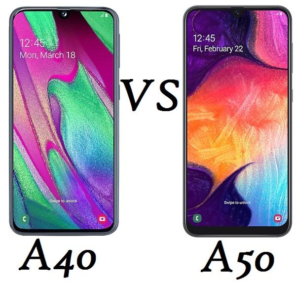 samsung galaxy a50 vs galaxy a40