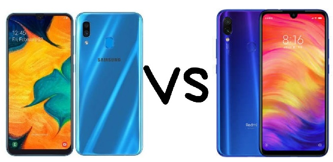 Samsung A30 vs Redmi Note 7