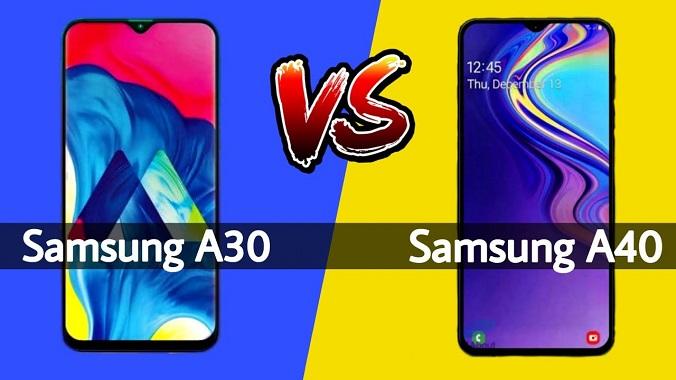 Samsung Galaxy A30 vs Galaxy A40