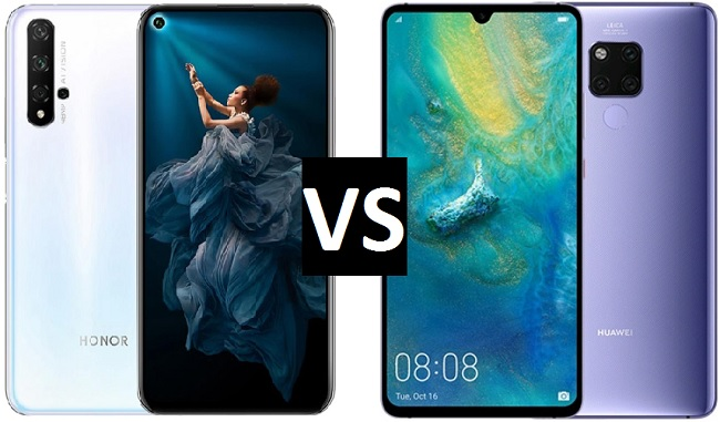 honor 20 vs huawei mate 20
