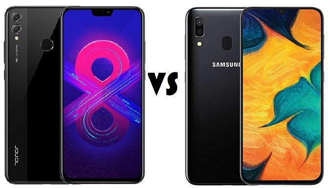 honor 8x vs samsung galaxy a30