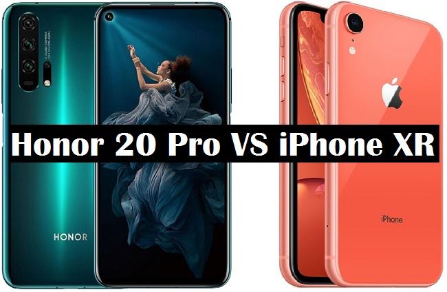 honor 20 pro vs iphone xr