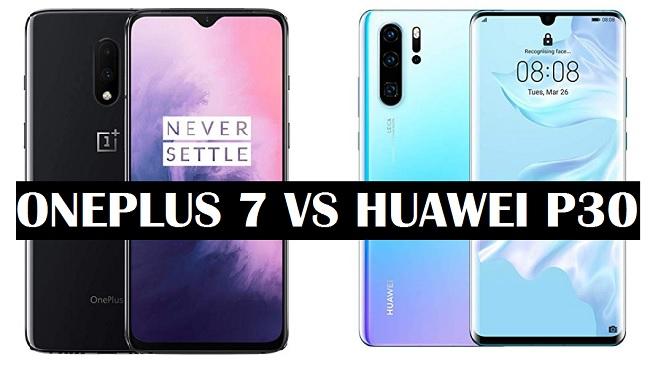 oneplus 7 vs huawei p30