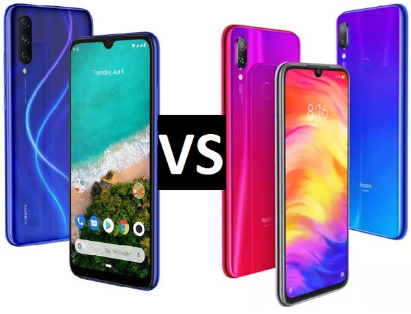 xiaomi mi a3 vs redmi note 7