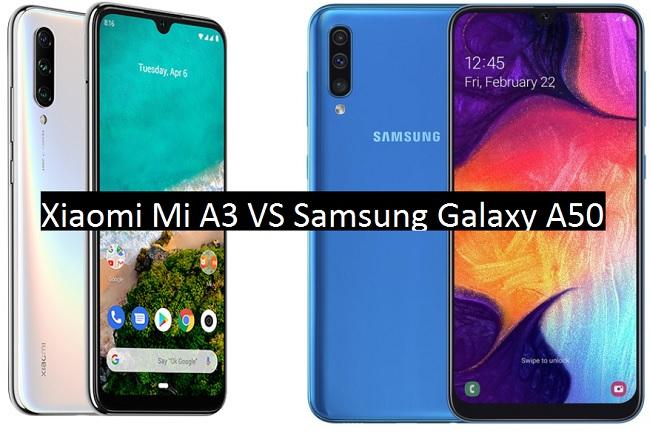 xiaomi mi a3 vs samsung galaxy a50