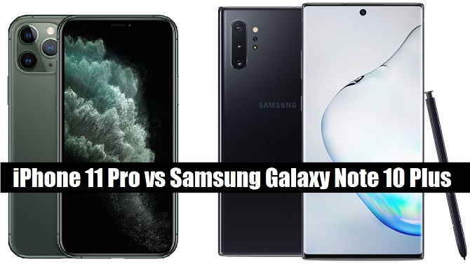 iphone 11 pro vs sasmung galaxy note 10 plus