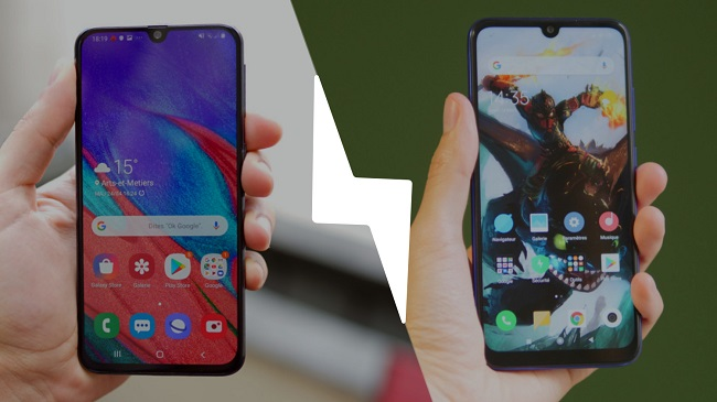 Samsung Galaxy A40 vs Redmi Note 7
