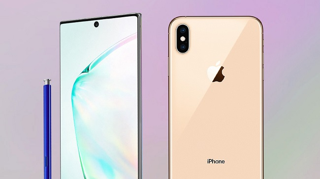 Samsung Note 10 iphone xs