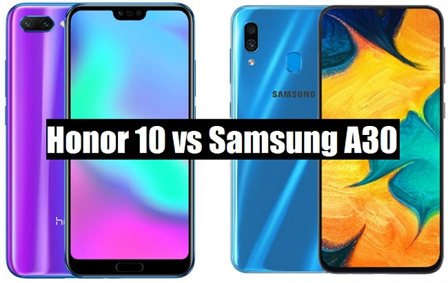 honor 10 vs samsung a30