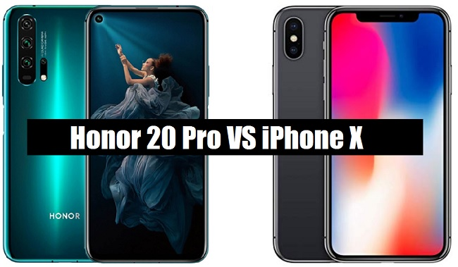 honor 20 pro vs iphone x