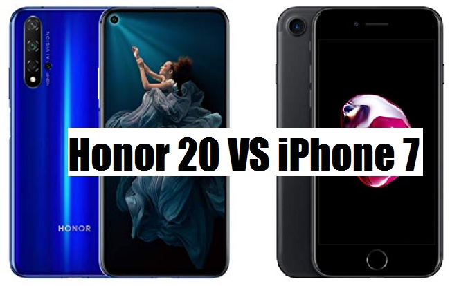 honor 20 vs iphone 7