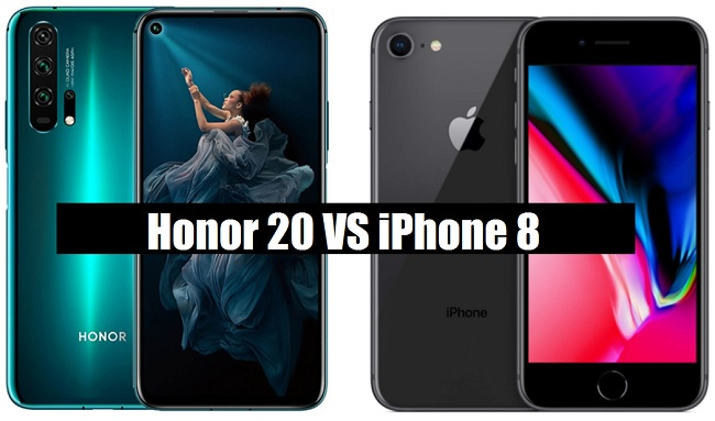 honor 20 vs iphone 8