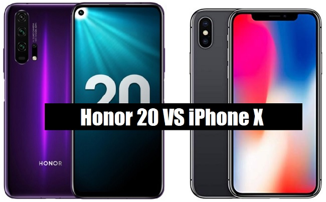 honor 20 vs iphone x