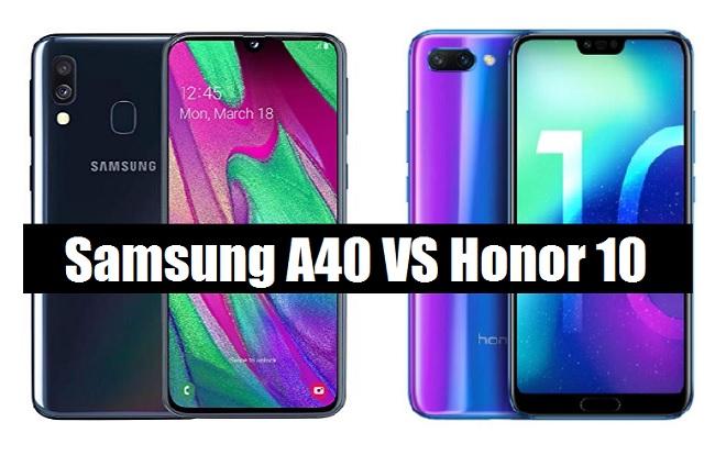 samsung galaxy a40 vs honor 10