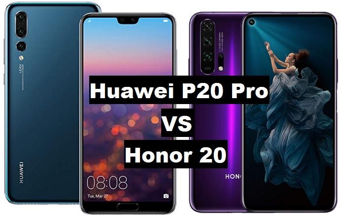 huawei p20 pro vs honor 20