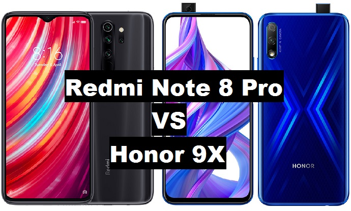 redmi note 8 pro vs honor 9x