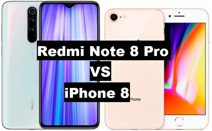 redmi note 8 pro vs iphone 8