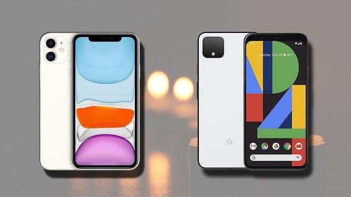 Google Pixel 4 XL vs iPhone 11