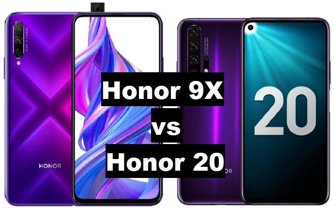 honor 9x vs honor 20