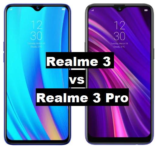 realme 3 vs realme 3 pro