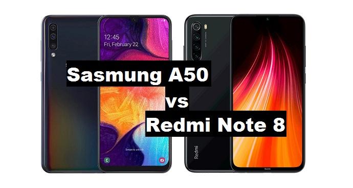 samsung a50 vs redmi note 8