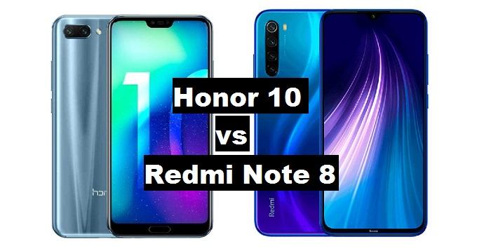 honor 10 vs redmi note 8