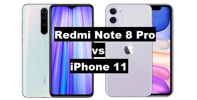 redmi note 8 pro vs iphone 11