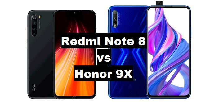 redmi note 8 vs honor 9x
