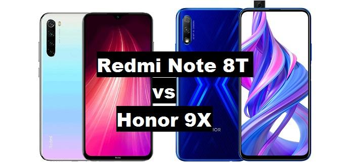 redmi note 8t vs honor 9x
